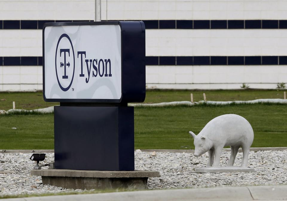Tyson's Waterloo plant with a pig statue