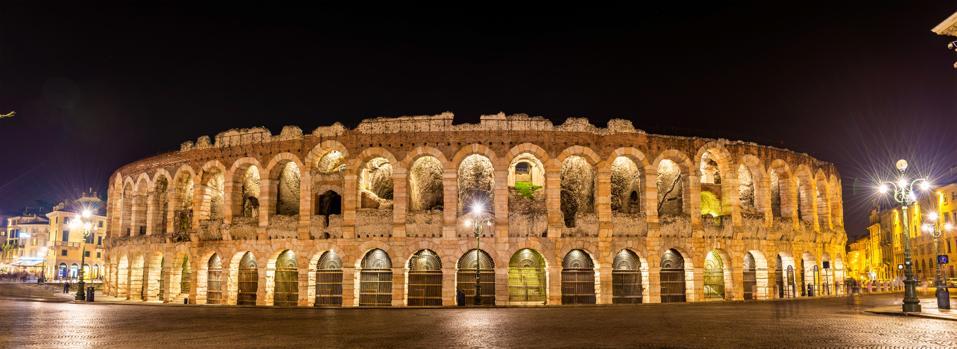 The Arena di Verona at night - Italy