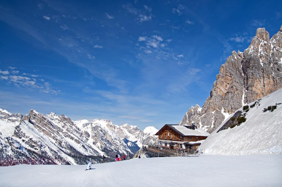 Cortina D'Ampezzo in the Dolomites.