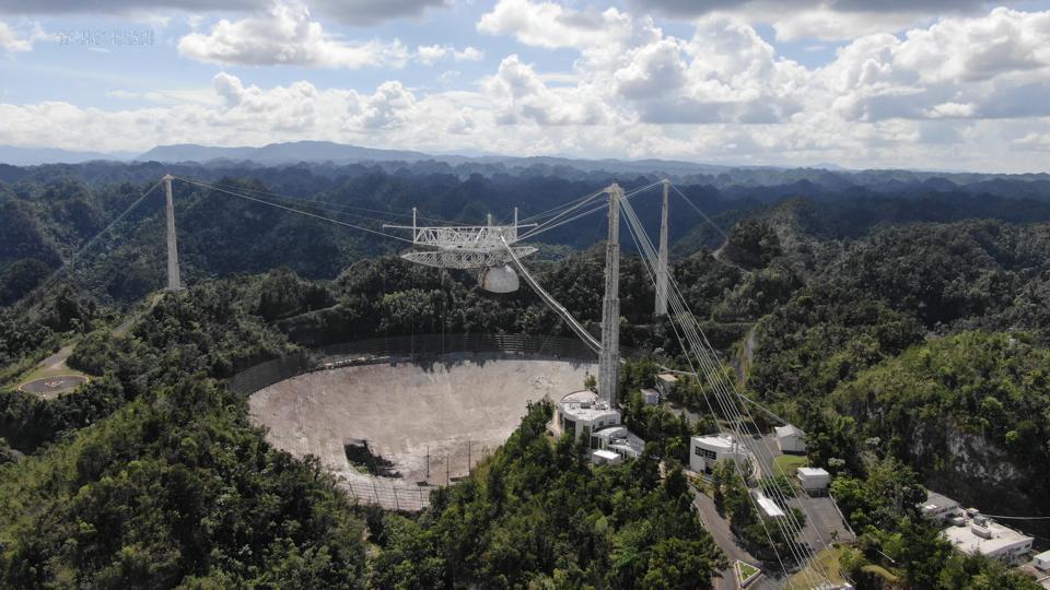Arecibo Observatory's 305-meter telescope in November of 2020.