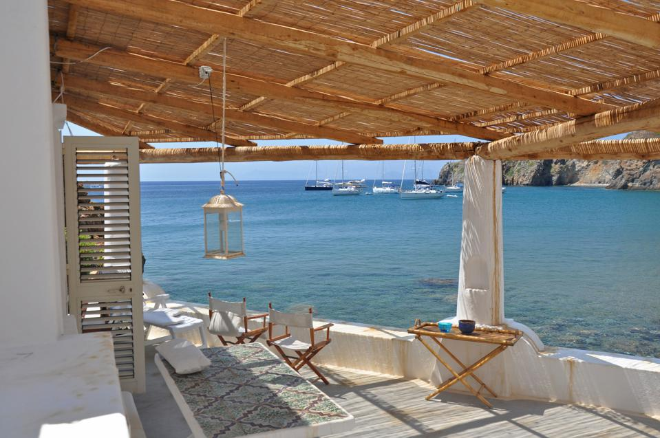 Panarea. Aeolian islands. aeolian terrace. Messina. Sicily. Italy. Europe