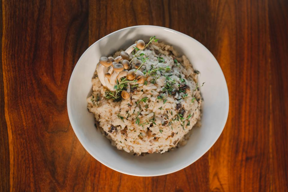 Wild Mushroom Risotto with Thyme From Chef Nikki Steward