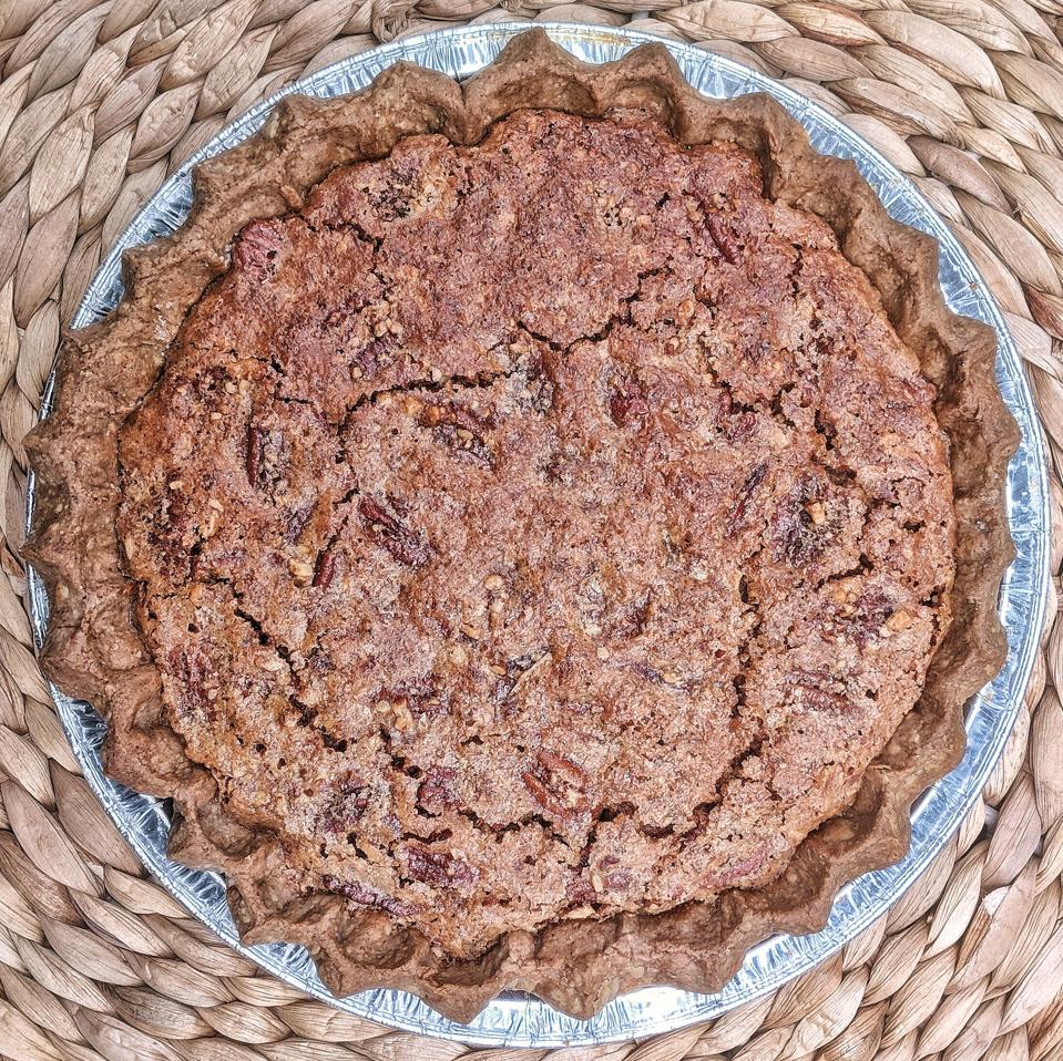 Pecan pie in pie dish