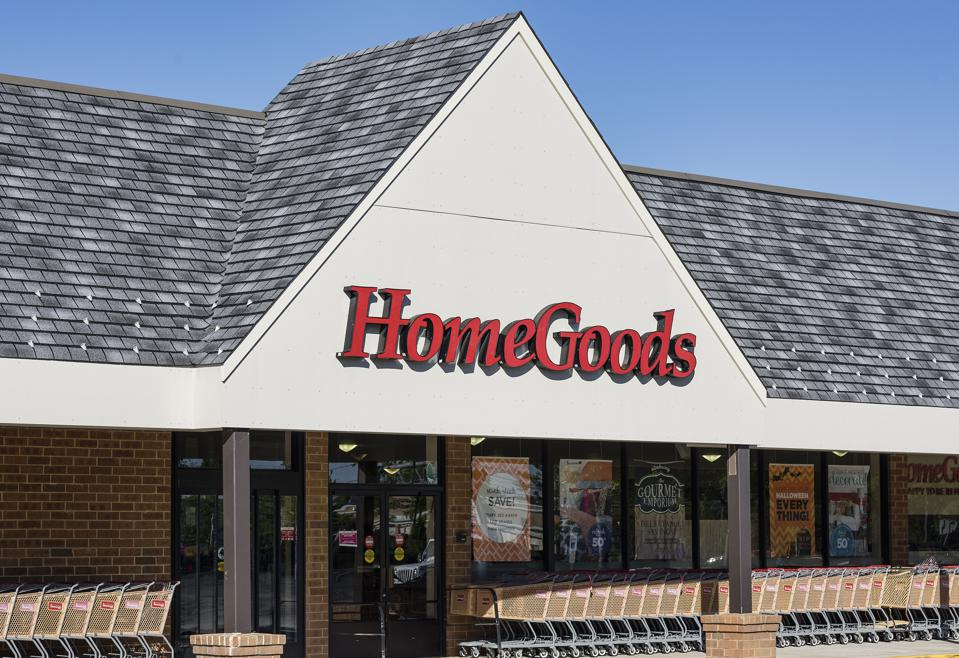 Home Goods furnishing store exterior...