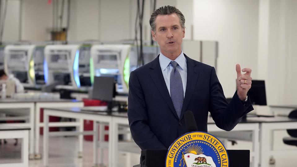 Virus-Outbreak-California-Governor-Party