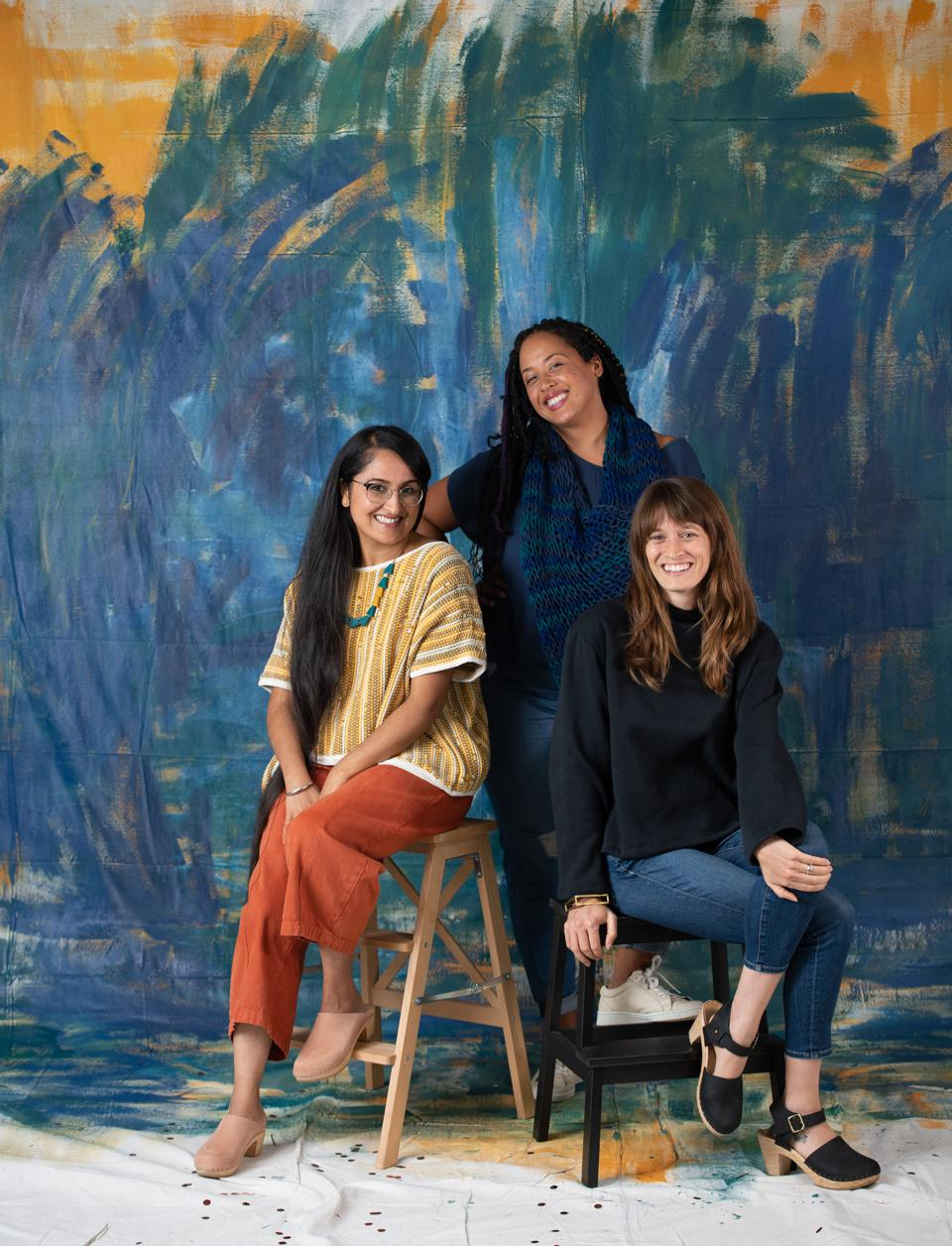 Reclaim Collaborative founders Manpreet Kalra, Chloe Jackman, and Rachel Faller