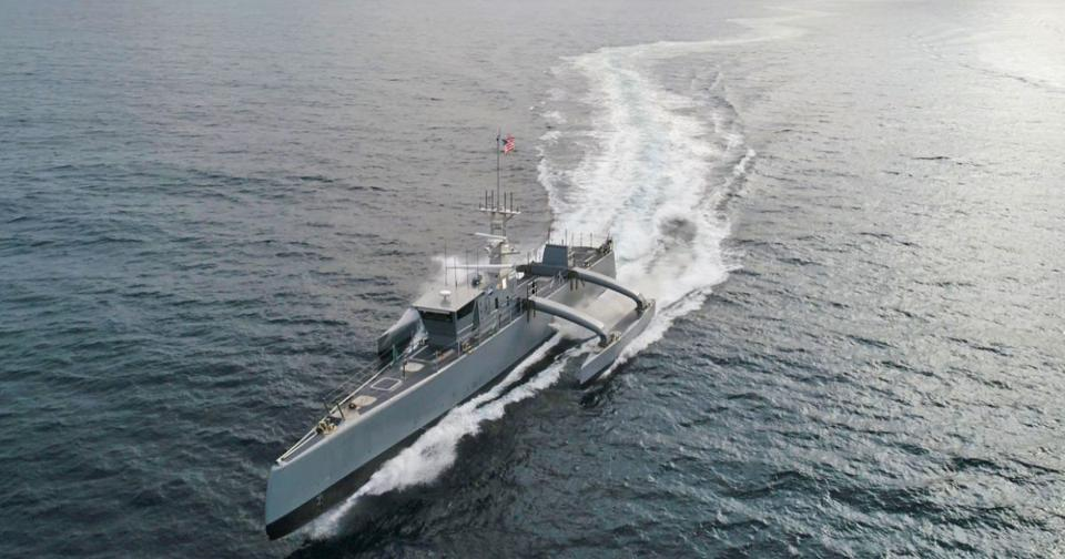 DARPA's Sea Hunter USV is similarly-sized to the MUSVs the Navy is pursuing.