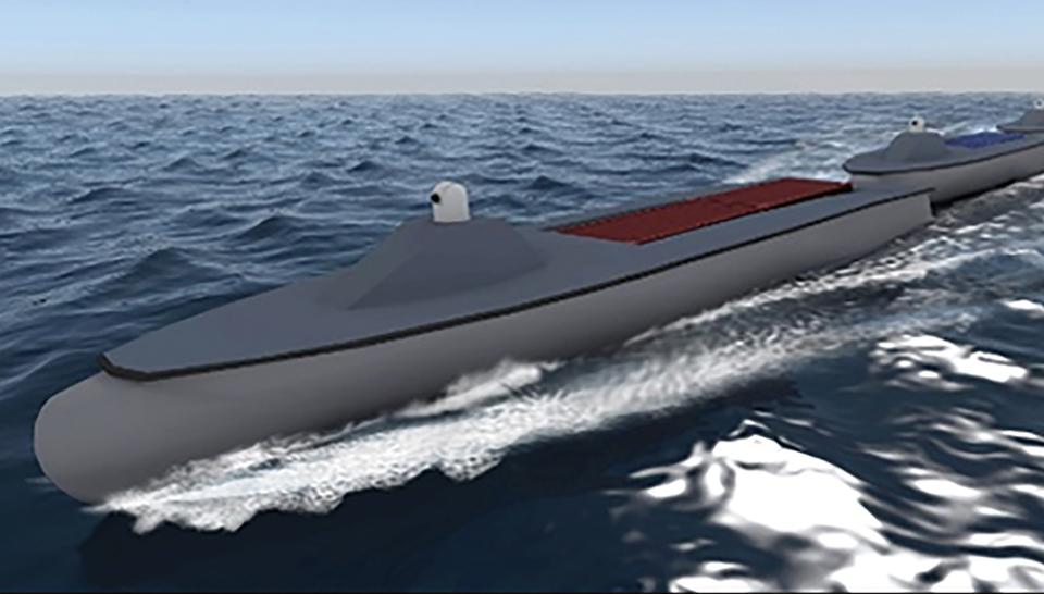 An artist rendering of a potential Sea Train configuration.