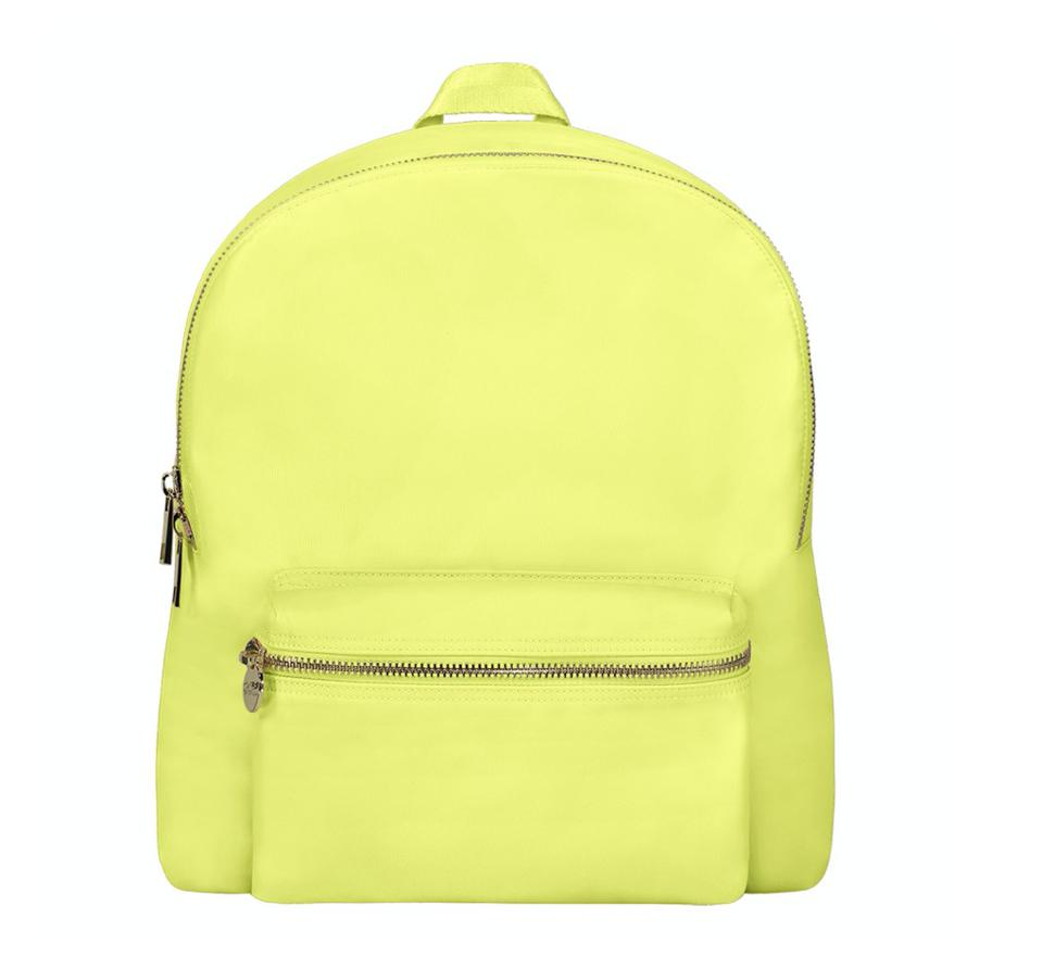 bright yellow backpack