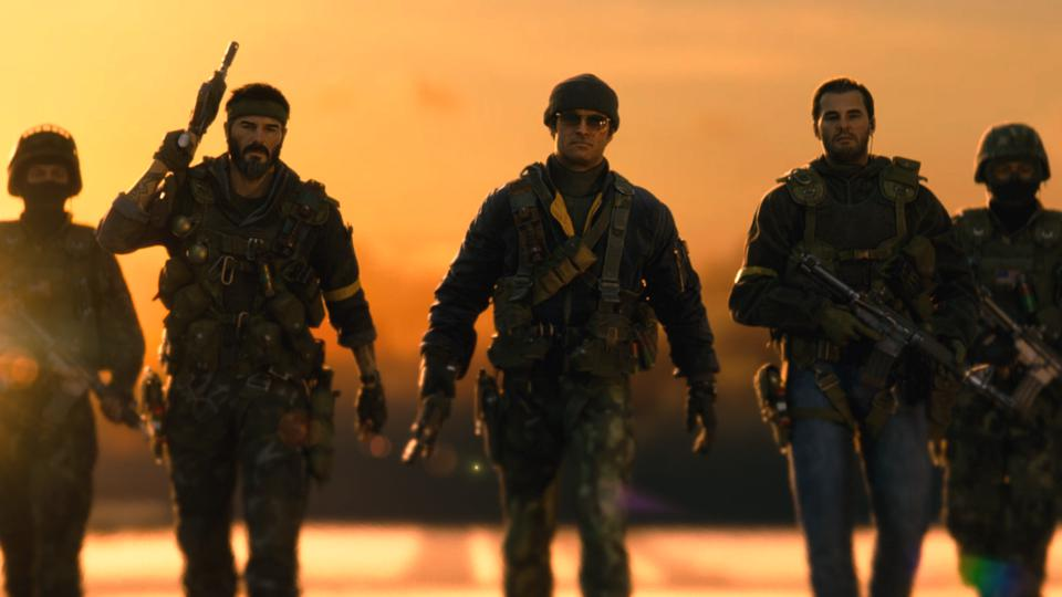 Call of Duty Black Ops Cold War characters in sunset