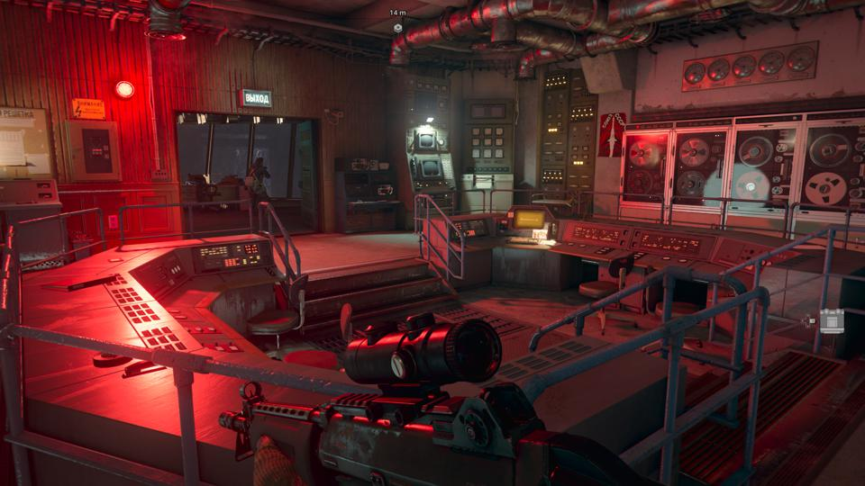 A screenshot of a computer room in Call of Duty Black Ops Cold War
