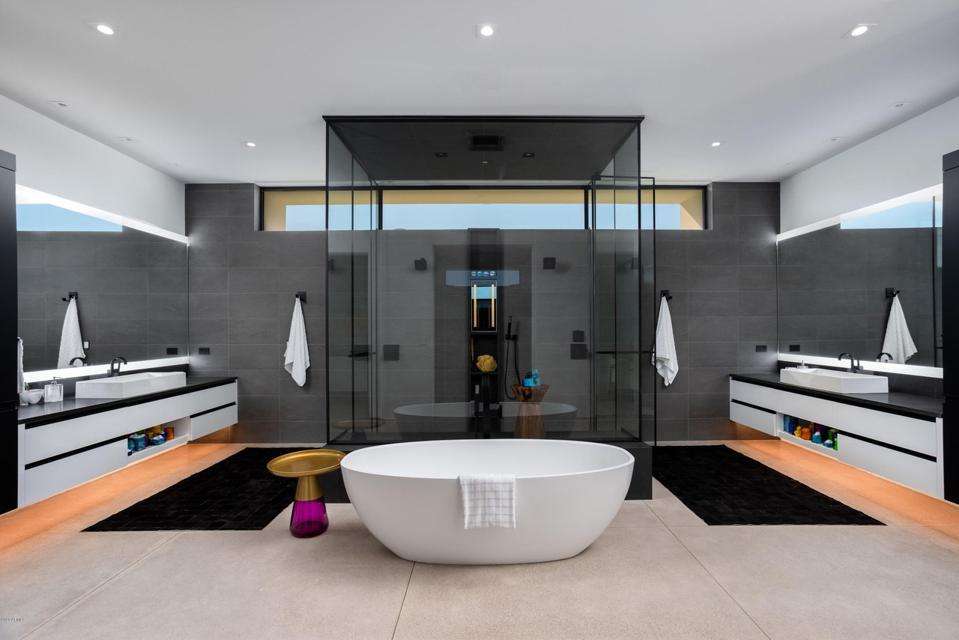Bathroom in a home in Cameldale Estates, Paradise Valley, Arizona.