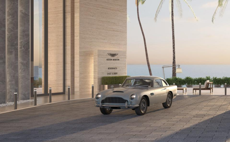 The DB5 Aston Martin, known as the ″James Bond″ car.