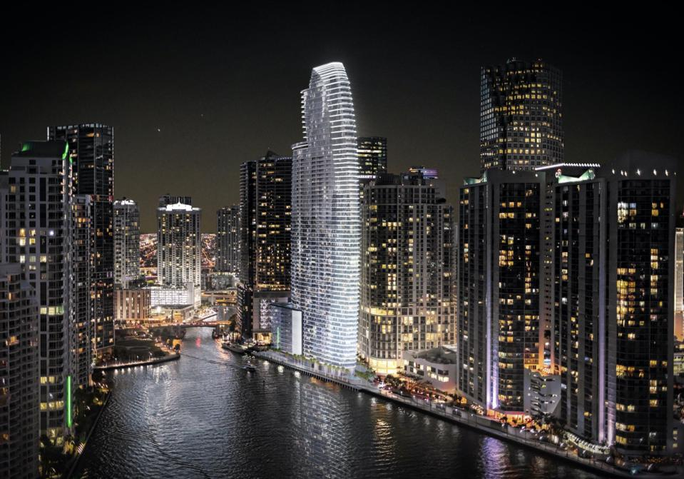 Rendering of the Aston Martin Residences