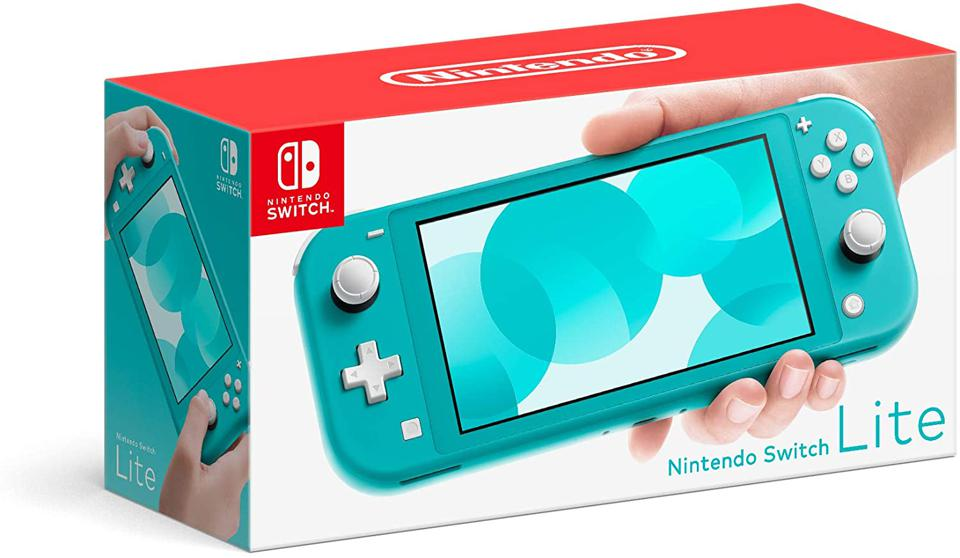 Nintendo Switch Lite Turquoise Retail Packaging