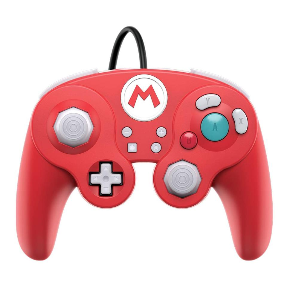 PDP GameCube-style wireless controller for Nintendo Switch in Super Mario Red