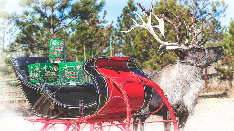 Breckenridge Brewery's reindeer delivery service