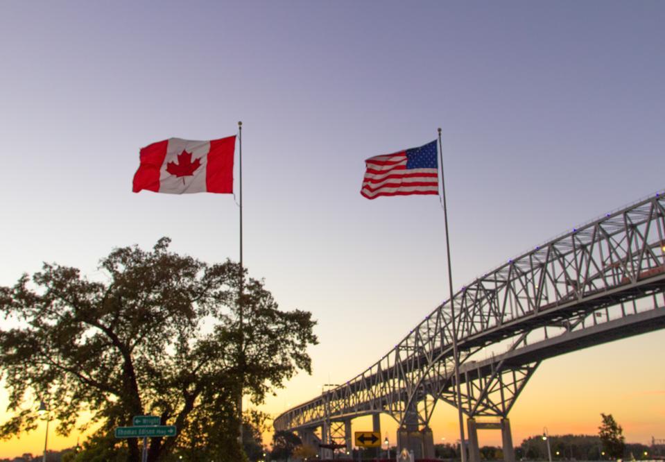 Controversial Canada U S Land Border Ban Extended