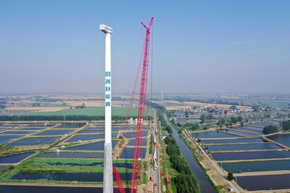 Wind Turbines Installation In Yangzhou