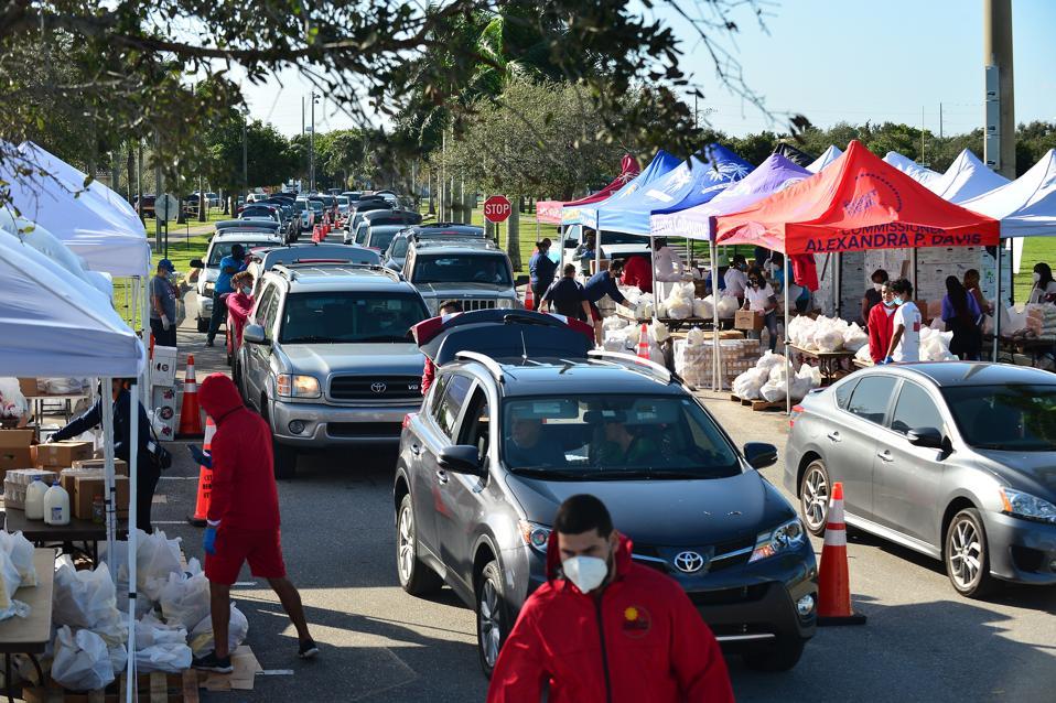 Feeding South Floride Holds Drive-Thru Food Distribution