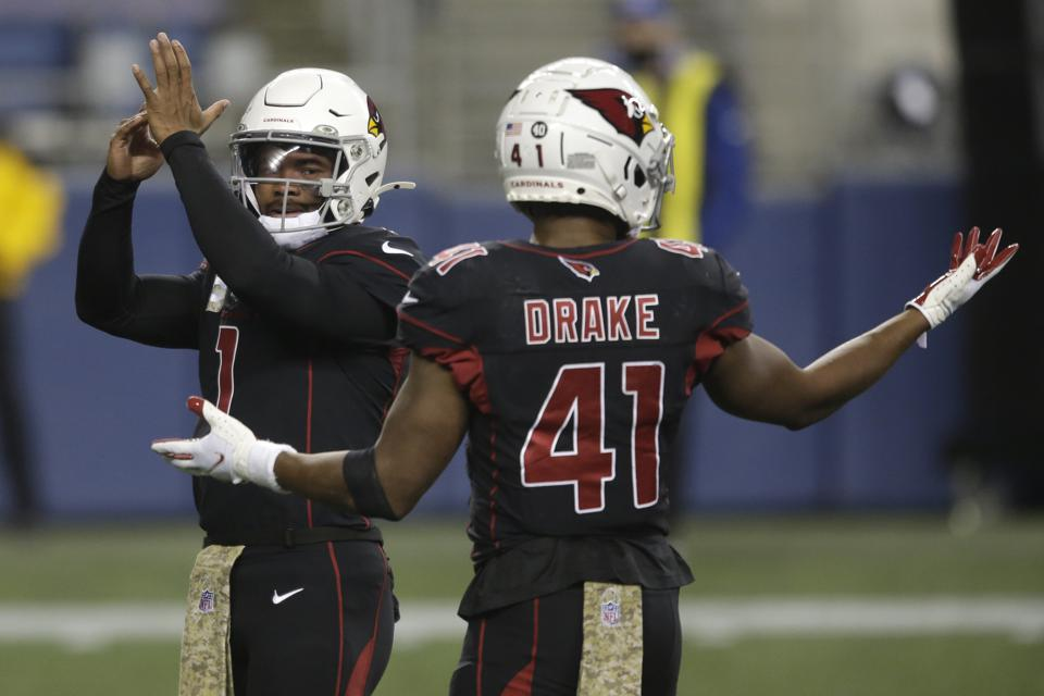 The Cardinals, who led the NFL in rushing, had only 57 yards against the Seahawks.