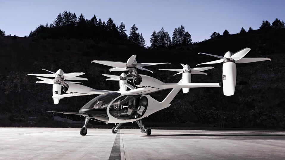 Full Tilt: el avión de Joby tiene seis unidades de propulsión que le permiten mantenerse en el aire incluso si falla un motor.  Las palas de la hélice están diseñadas para que sea más silencioso que un helicóptero cuando despega o aterriza verticalmente, y prácticamente silencioso cuando se inclina hacia adelante en vuelo.