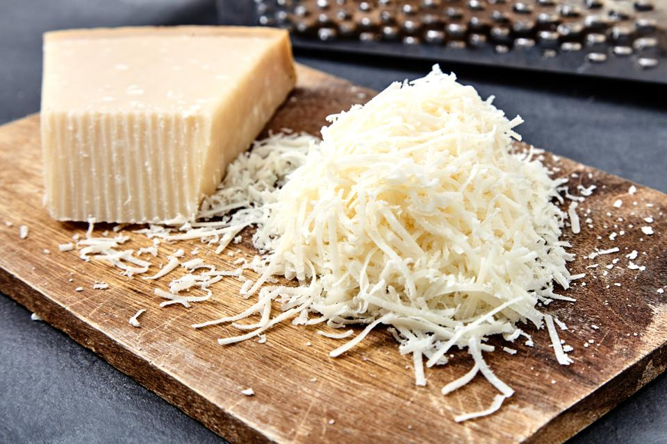 Always grate your own Parmigiano Reggiano, advises Anne Saxelby