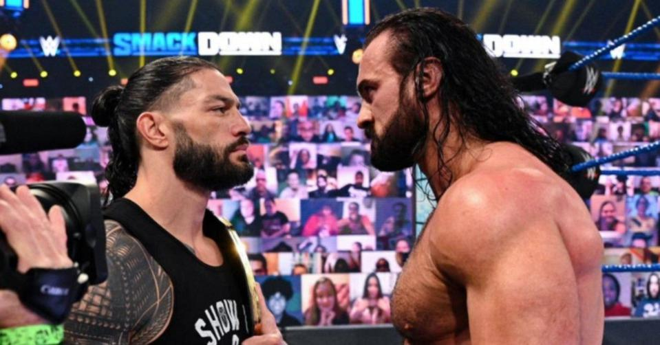 WWE Friday Night SmackDown featured a contract signing between Drew McIntyre and Roman Reigns.