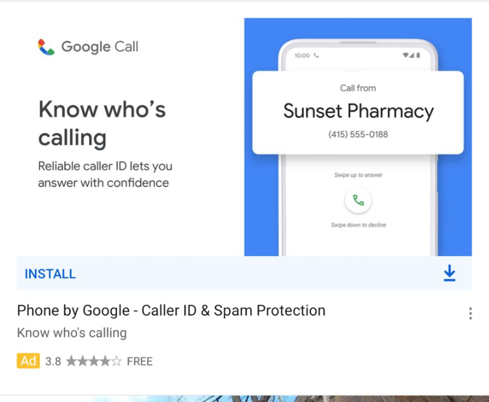 Leaked ad for Google Call