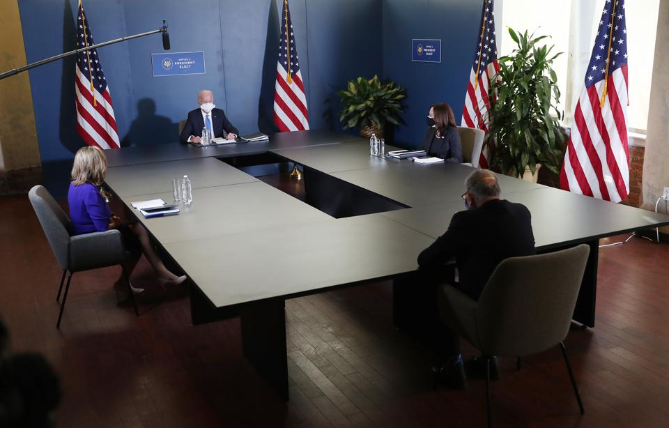 President-Elect Biden Meets With Nancy Pelosi And Chuck Schumer In Wilmington