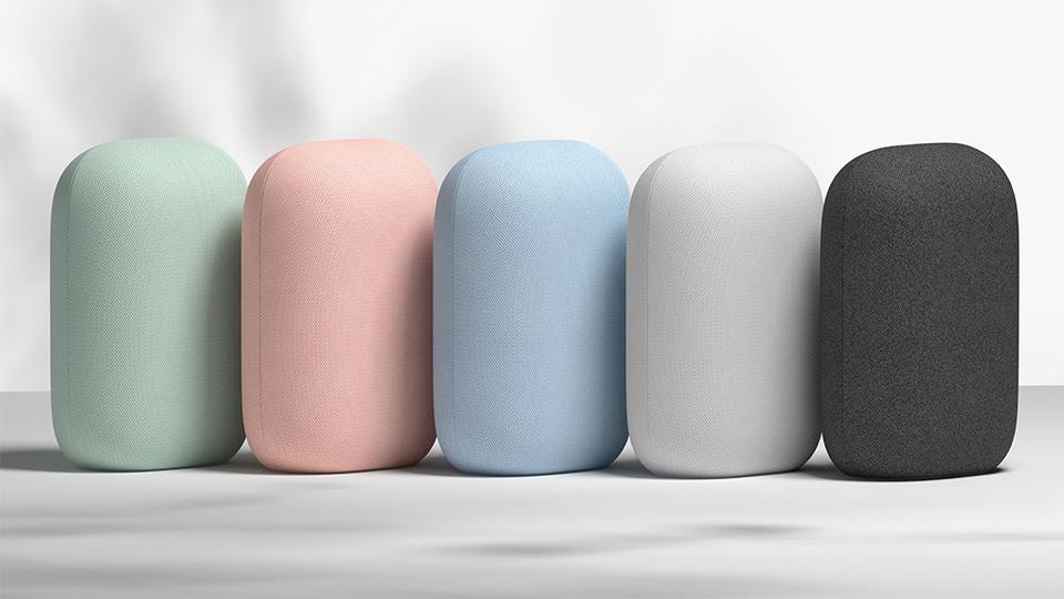 Google Nest Audio in five colors
