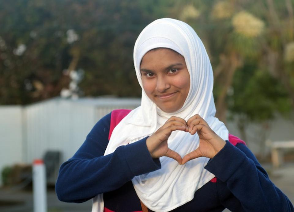 In March 2019, the Al Noor Mosque In Christchurch, New Zealand, where this young girl lives, was attacked and 51 people lost their lives.