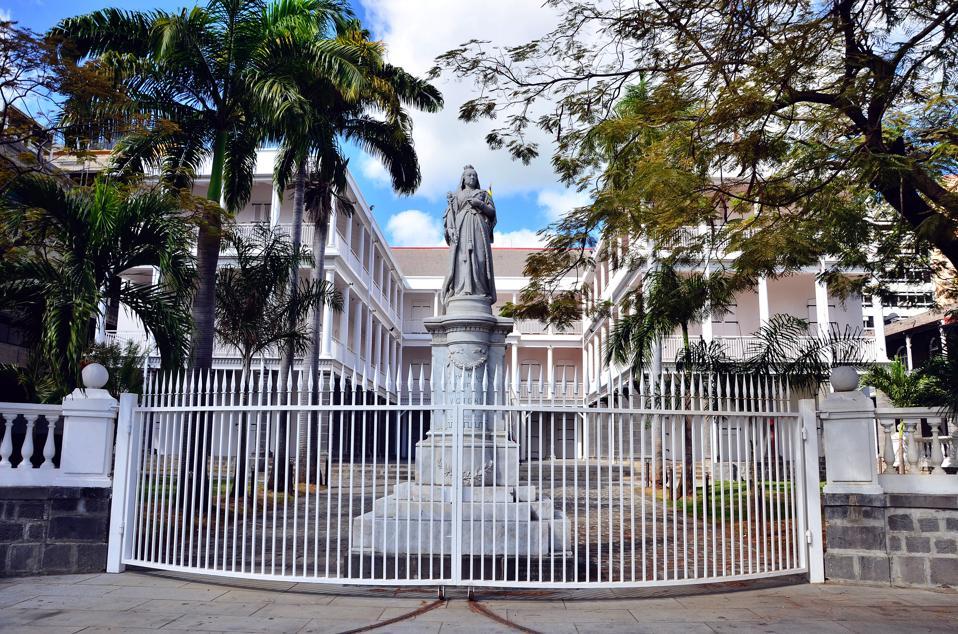 Parliament Buildings in Port Louis, Mauritius.