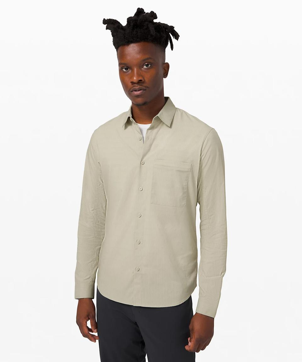 Down to the Wire Long Sleeve Shirt in cream.