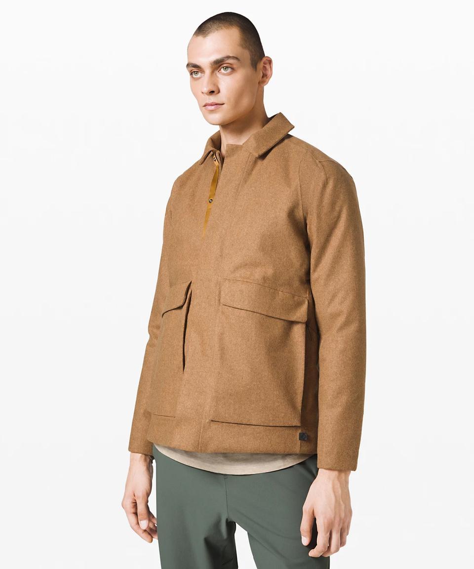 Diffract Jacket lululemon lab in tan.