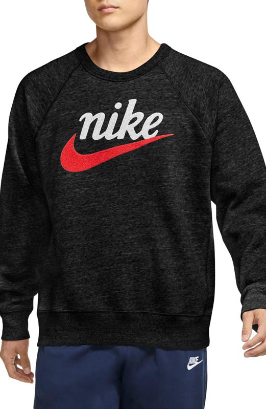 Nike logo crewneck in balck.