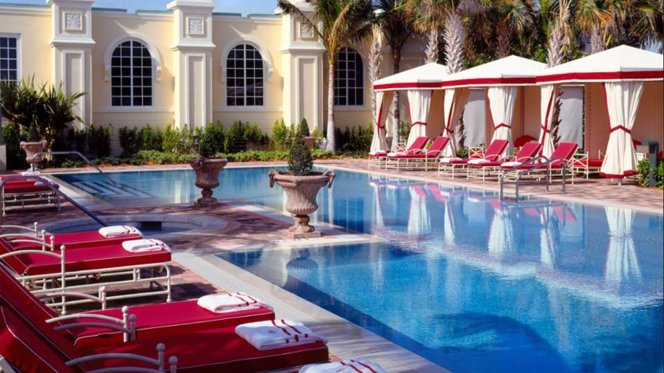 Acqualina's luxurious pool