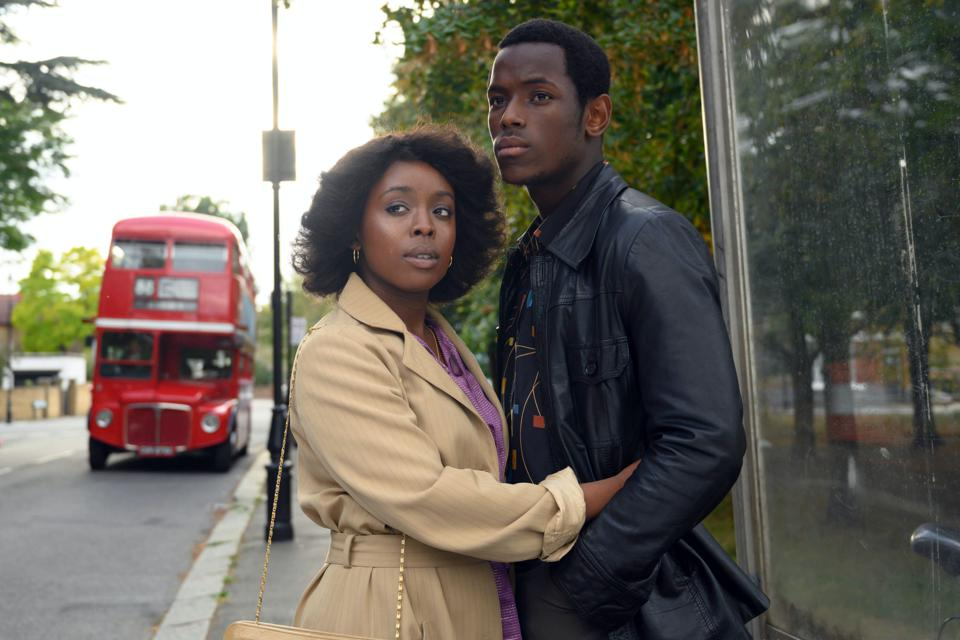 Amarah-Jae St. Aubyn and Micheal Ward in 'Lovers Rock' on BBC One and Amazon Prime Video