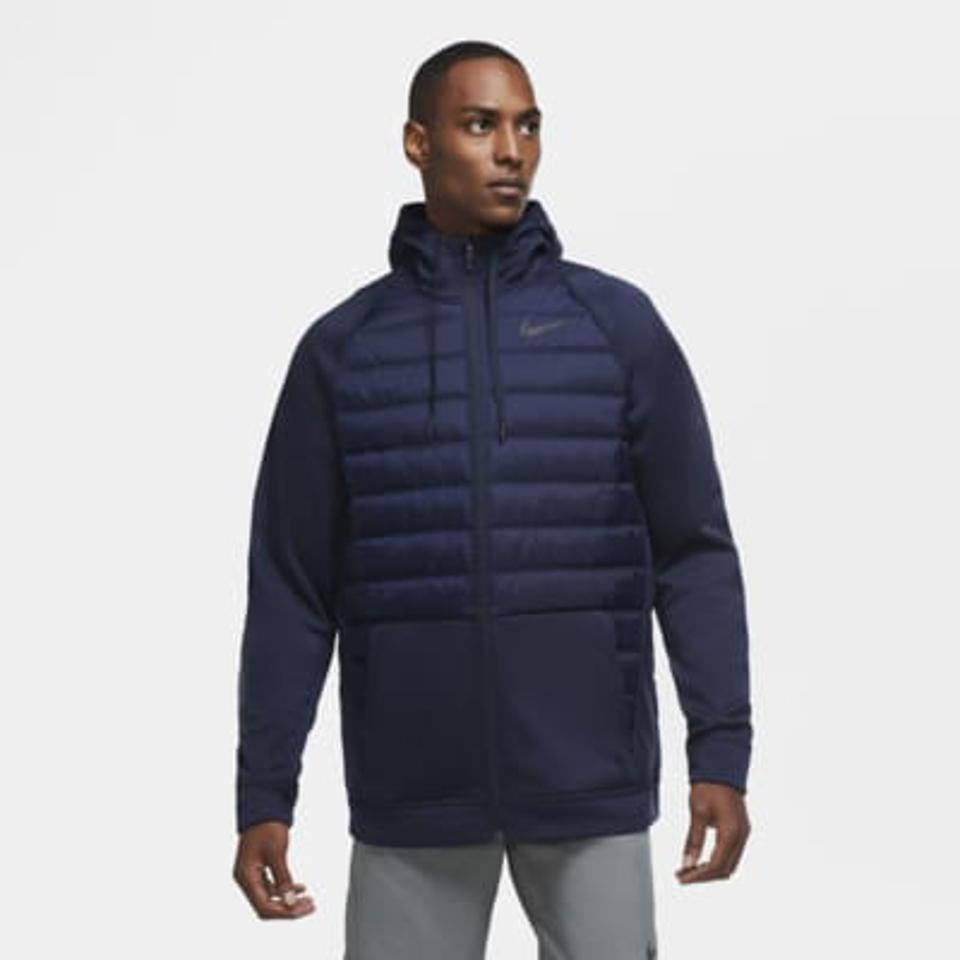 Nike training jacket in navy.