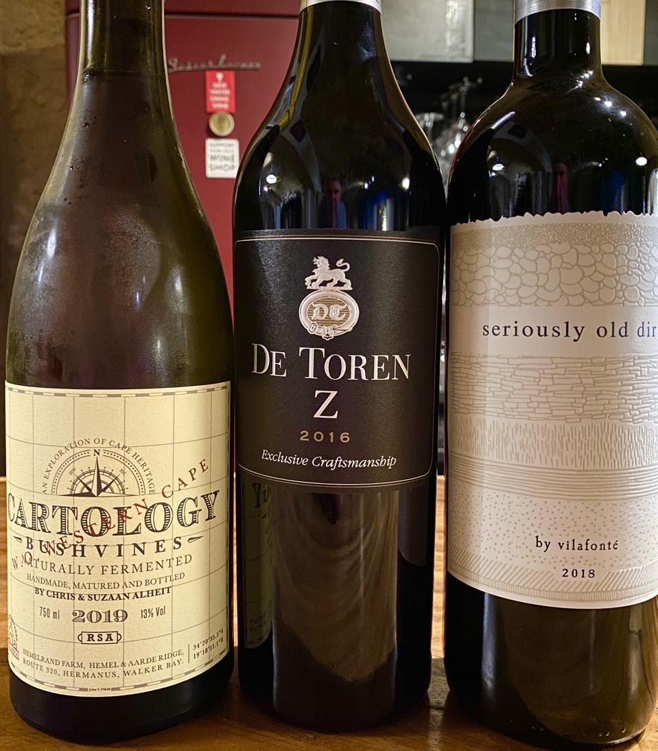 Various South African wines