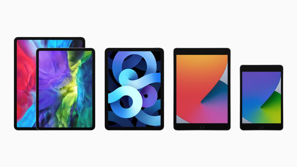 Apple's complete iPad range: iPad Pro 12.9in, iPad Pro 11in, iPad Air, iPad, iPad mini