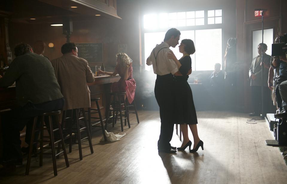 Rodrigo Santoro and Zosia Mamet in 'Last Call.'