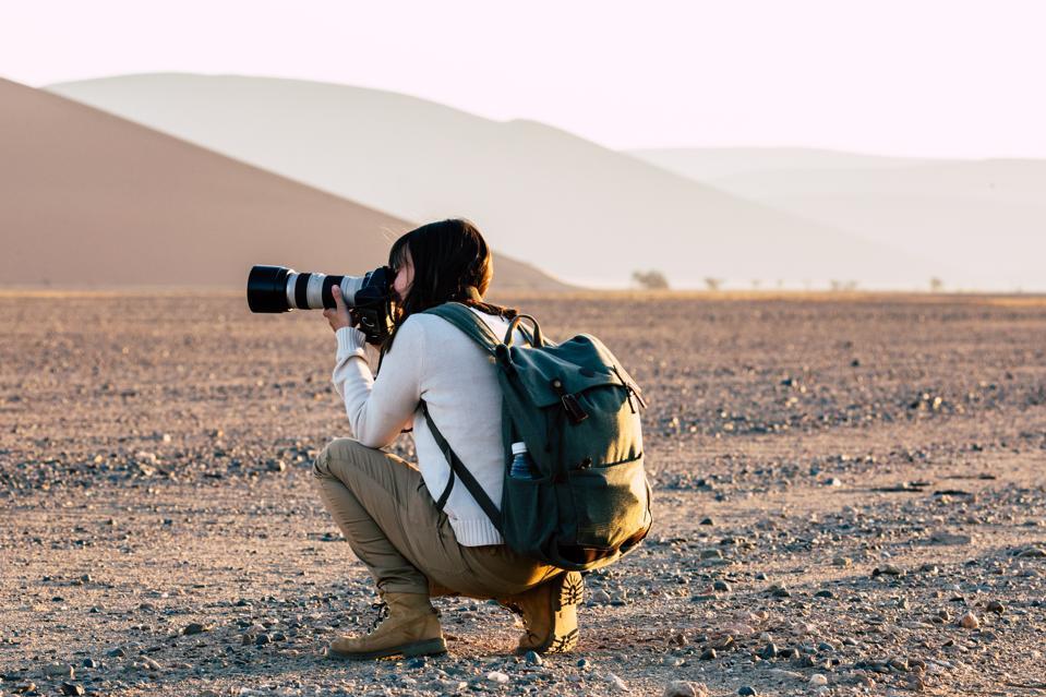 Photographer at Namib desert