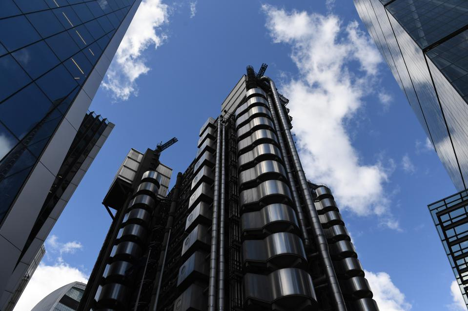 Lloyd's of London in the City of London as the the world's largest insurance market.  The International Group of P&I Clubs is located just next to Lloyds.