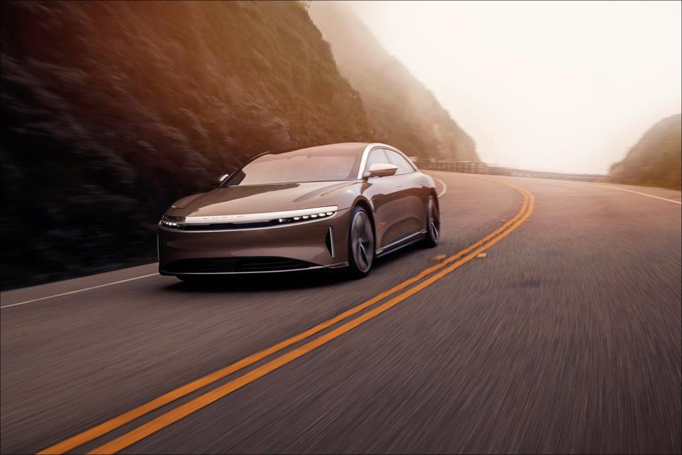Lucid Motors adopted micro-lens array technology, allowing slim headlights.