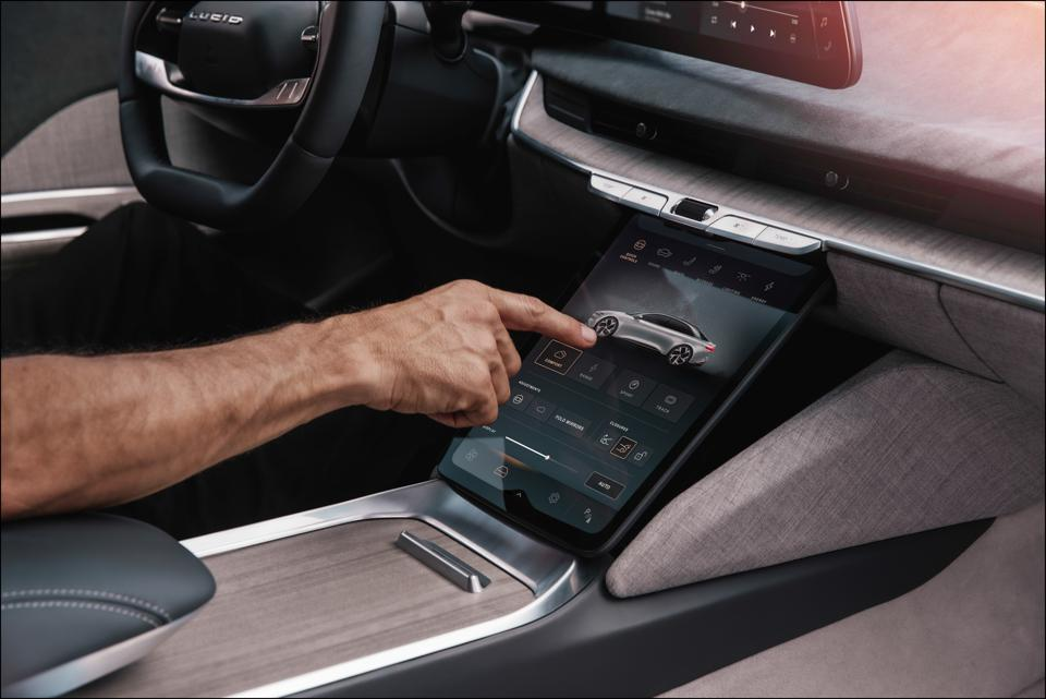Lucid has an in-house user experience and touchscreen graphics capability.