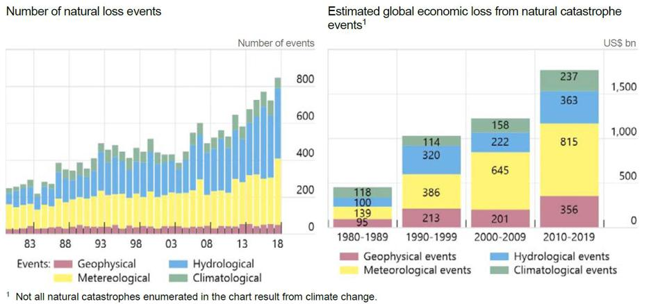 The impact of physical risks on the global economy has increased in recent decades