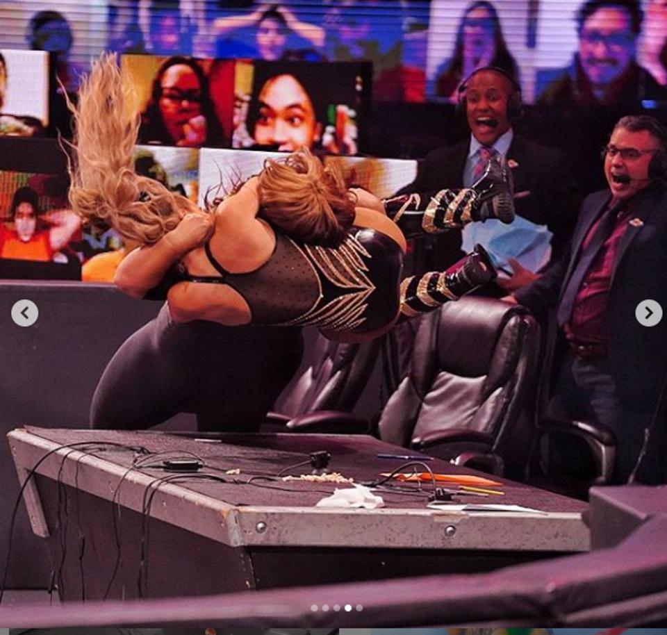 Nia Jax has put Lana through a table in each of the past nine weeks.