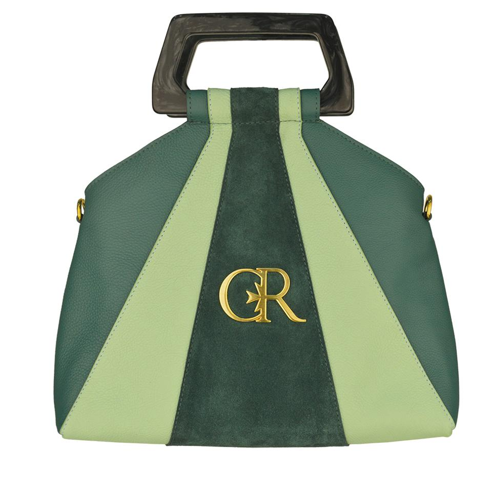 The Gayle Hobo Bag - inspired by the evergreen Winter landscapes of the Maltese islands with green cow-leather hues, gold hardware, real suede lining, and completed with the house's signature CR monogram.
