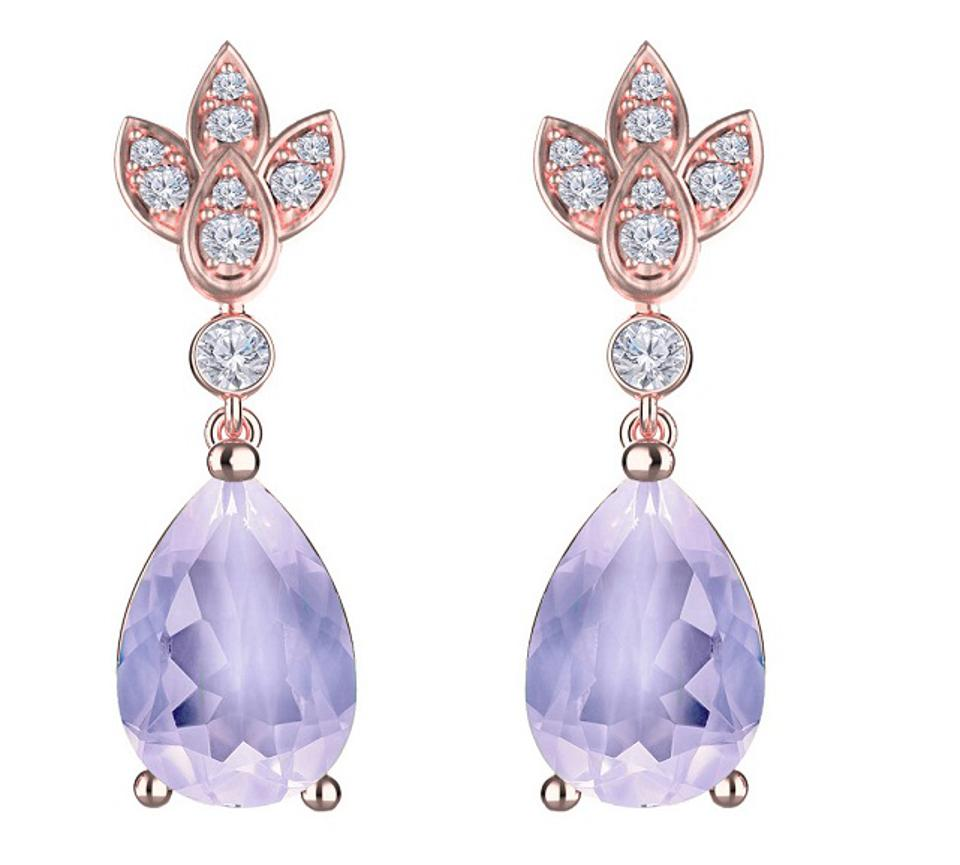 Majestic 'Isla' Drop Earrings - Ear Candy of Dreams crafted with 14k rose gold and moon quartz